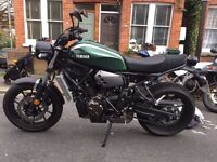 XSR 700 ABS, JAN 2017, 300Miles Only. 21 months Warranty Yamaha and 9 months RCA Yamaha