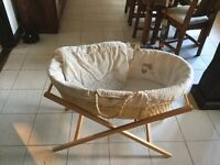 Mamma's and Pappa's Moses basket excellent condition