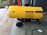 MASTER BLP103DV SPACE / WORKSHOP HEATER INCLUDING FULL GAS BOTTLE