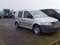 2008-08 volkswagen caddy xtra long kombi 5 seat window van very low miles final price plus vat