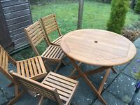 GARDEN TABLE & 4 CHAIRS SETS