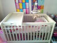 Large Wooden Cot/Cot bed, Mama's n Papas.