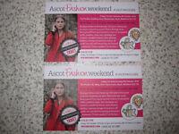 Ascot Fashion Weekend Tickets x2
