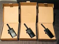 3x Hytera PD505LF Licence Free Two Way Radios