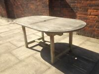 Teak Garden Table Seats 6-8 Very Well Made from JOHN LEWIS Solid Teak Wood Garden or Patio Table
