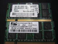 2x1GB 2GB PC2 ,5300S RAM MEMORY TAKEN FROM WORKING LAPTOP