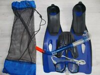 Snorkel, Mask and Flippers (Set A)