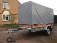 750 Kg Non-braked Single Axle Car Trailer With Canopy