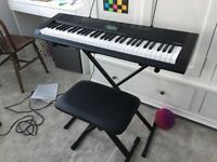 Casio keyboard, ideal for beginners + stand + seat VGC - north London