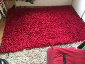 Beautiful Hilcox Red plush quality rug RRP £400