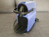 Nespresso Coffee Machine in Blue - Perfect condition; minimal use