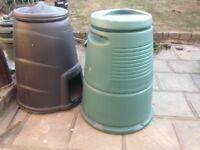2 composter bins , 3 chimney pots