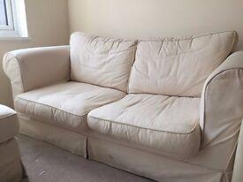 £ 5 Sofa creme New price. Must go!