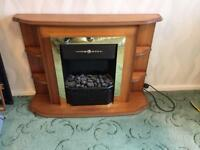 Free standing electric fire