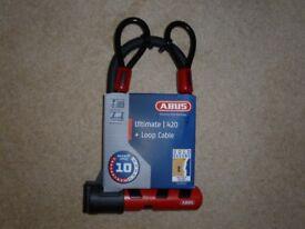 UNUSED Abus Ultimate 420 Bike Lock + Loop Cable