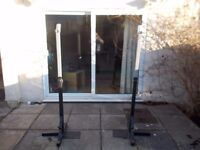 Olympic Bar, Weights, Squat Stands and Farmer's Walks