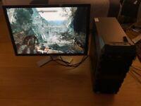 Gaming Desktop PC with Huge 30-inch Monitor; 3.2GHz i7-960 CPU, 12GB RAM, 2TB HDD, Radeon HD 5850