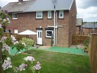 2 Bd semi in semi rural (DH8) County Durham with huge garden, looking for a 2/3 bed ANYWHERE