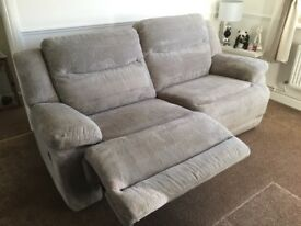 3 seater sofa with 2 large reclining seats