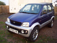 2003 high spec daihatsu terios 4wd jeep alloys air con electrick pack july 2017 mot £995