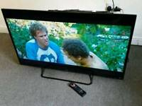 "50"" smart wifi fhd led TV with free view has remote £235 or make an offer for cash sale"