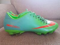Green and blue nike mercurial size 8.5