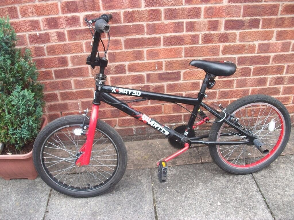 X RATED BMX PUSH BIKE NEEDS FRONT BRAKE LEVER BARGAIN15.00in Aston, South YorkshireGumtree - X rated BMX push bike, 20 inch wheels, rides but requires a front brake lever collection from Aston S26 ring 07766448181