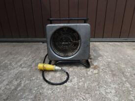 3Kw Birchwood Fan - 32amp / 110v - Ideal for Garage / Workshop