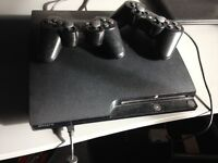 PS 3 (500GB) with 2 remote controls and GAMES