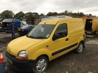 Renault Kangoo diesel spare parts available bumper bonnet wing light radiator axel gearbox