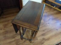 small oak vintage table