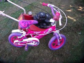 kiddies first bike.