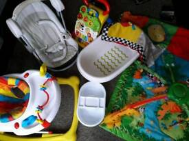Job lot - Baby Swinging Seat, activity gym, play mat, sit in Stroller,