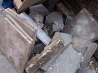 Slabs and rubble free to collect