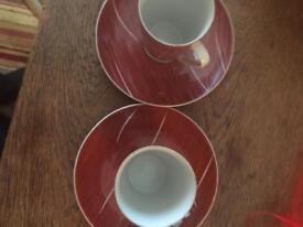 Retro coffee cups &saucers. £20.