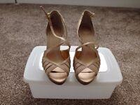 Nine West Gold High Heel Sandals