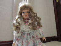 Porcelain Doll by Leonardo (Estelle). Vintage, collectable doll from around 1997