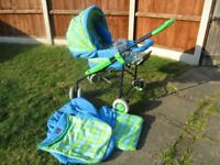 Bebecar pram/pushchair with accessories