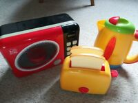 Children's toy kettle, toaster and microwave