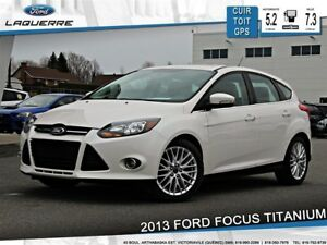 2013 Ford Focus TITANIUM**CUIR*TOIT*GPS*CAMERA*BLUETOOTH*A/C**