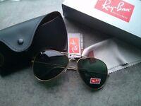 Rayban aviator sunglasses new