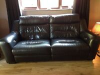 Black Leather Electric Power 3 Seater Sofa 3 Years Old Excellent Condition Giveaway Milton Keynes
