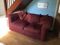 Red multiyork 3 seat sofa