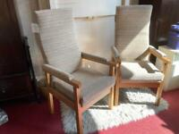 Set of 2 new and unused upright armchairs - from smoke & pet-free home