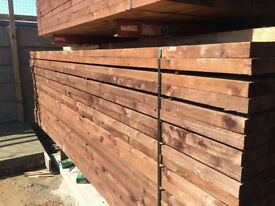 150x47x2.4m timber joists, treated softwood joists, brown treated
