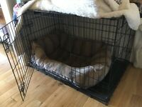 Large Black Dog Crate - Ideal for Collie etc