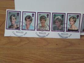 Princess diana stamps.