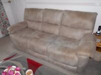 3 SEATER SOFA 2RECLINER CHAIRS STORAGE BOX