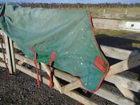 Rambo turnout 6 ft green red binding nylon lining good working order
