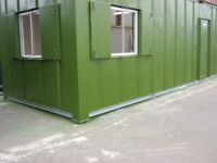 32ft x 10ft Anti Vandal Portable Cabin DOUBLE OFFICE welfare unit site office shipping container